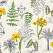 Fern Garden by Makower UK - 6281 - Montage on Off White - 2072_Q - Cotton Fabric